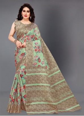 Silk Multi Colour Printed Classic Saree