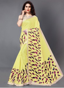 Printed Silk Saree