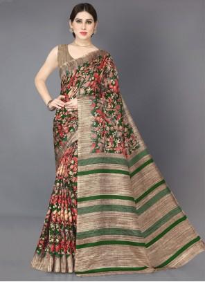 Silk Printed Saree