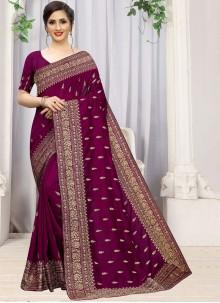 Silk Purple Saree
