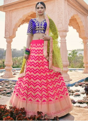 Silk Rani Resham Designer Lehenga Choli