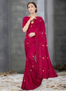 Silk Rani Resham Traditional Designer Saree