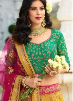 Silk Reception Trendy A Line Lehenga Choli