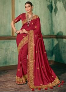 Silk Red Festival Saree