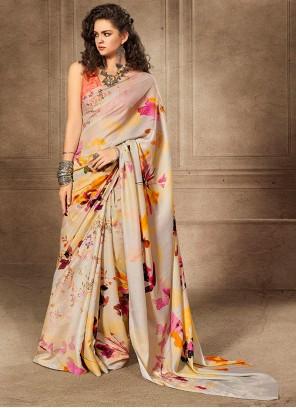 Multi Color Silk Saree For Party