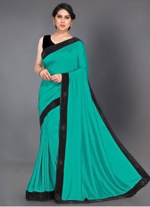 Silk Saree Lace Silk in Teal