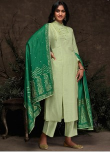 Silk Sea Green Pakistani Suit