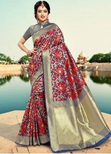 Silk Silver Traditional Saree