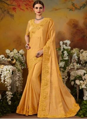 Silk Thread Work Trendy Saree
