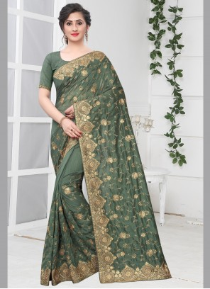 Green Silk Traditional Saree