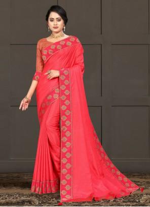 Silk Traditional Pink Saree