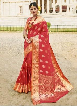 Red Silk Traditional Saree