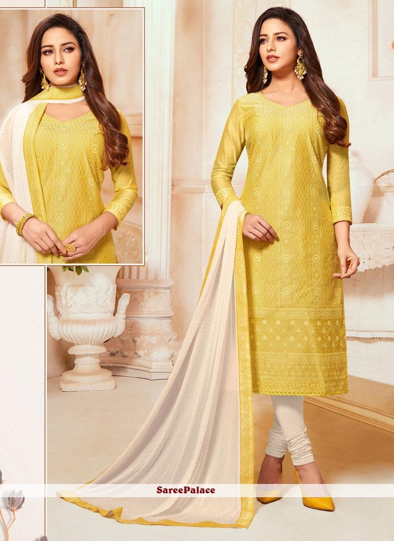 Silk Trendy Churidar Salwar Suit