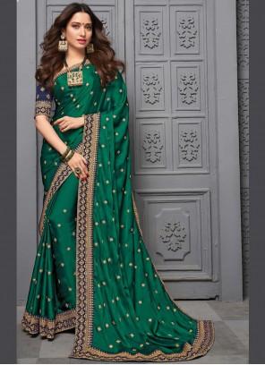 Silk Sea Green Trendy Saree