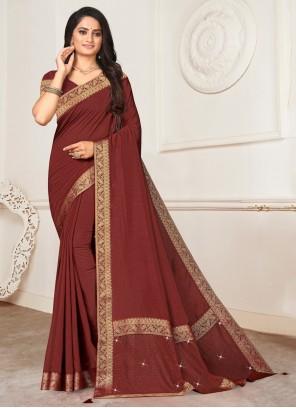 Silk Trendy Saree in Maroon