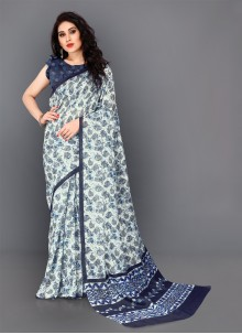 Silk Trendy Saree in Multi Colour
