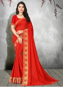 Silk Trendy Saree in Red