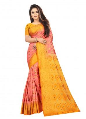 Silk Weaving Bollywood Saree in Multi Colour