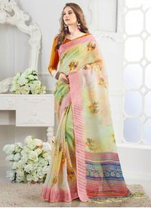 Silk Weaving Casual Saree in Multi Colour