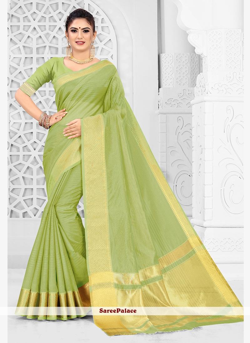 Silk Weaving Classic Saree in Sea Green
