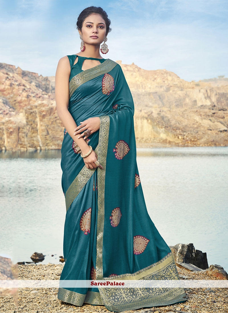 Silk Weaving Green Classic Saree