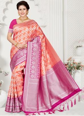 Silk Weaving Multi Colour Classic Saree