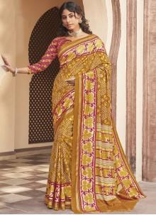 Silk Weaving Multi Colour Designer Traditional Saree