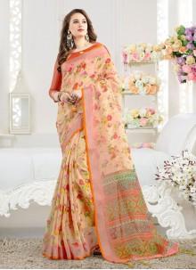 Weaving Multi Colour Silk Saree
