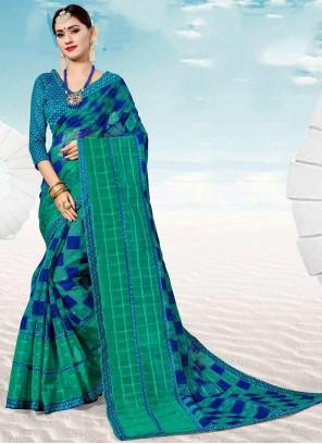 Silk Weaving Multi Colour Trendy Saree