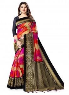 Silk Weaving Silk Saree in Pink