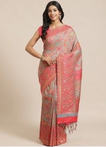 Silk Weaving Traditional Designer Saree in Multi Colour