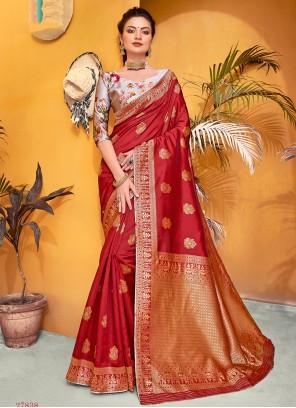 Silk Weaving Traditional Saree