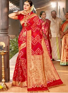 Red Silk Wedding Classic Saree