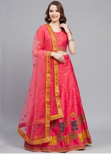 Silk Wedding Pink Designer Lehenga Choli