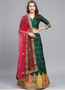 Silk Wedding Green Designer Lehenga Choli