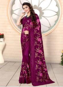 Silk Wine Traditional Saree