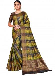 Silk Woven Multi Colour Designer Saree