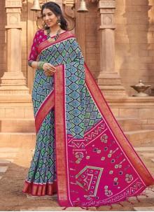 Silk Woven Multi Colour Traditional Saree