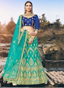 Silk Zari Green Designer Lehenga Choli