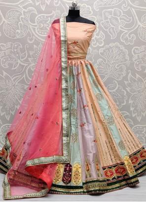 Silk Zari Multi Colour Lehenga Choli