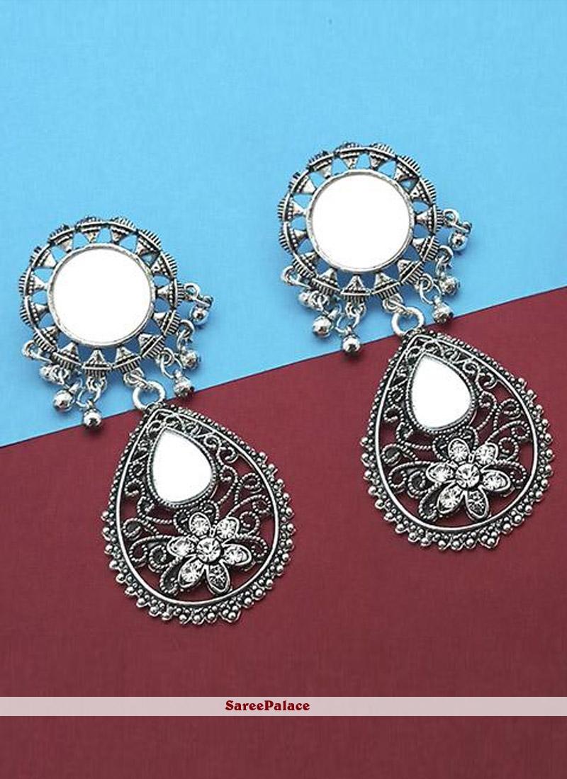Silver Ceremonial Ear Rings