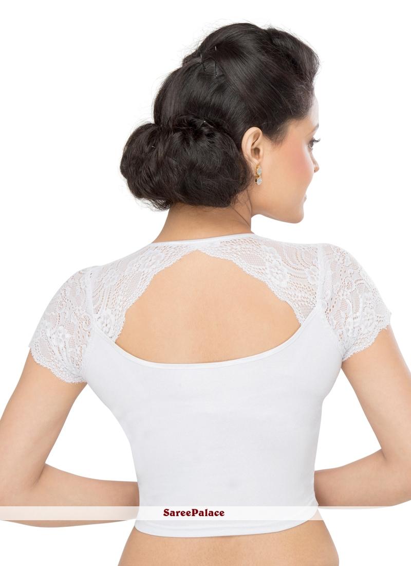 cdd3a9e420 Buy Silver Cotton Lycra Party Designer Blouse Online