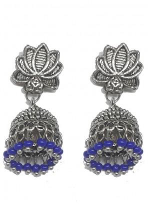 Silver Mehndi Ear Rings