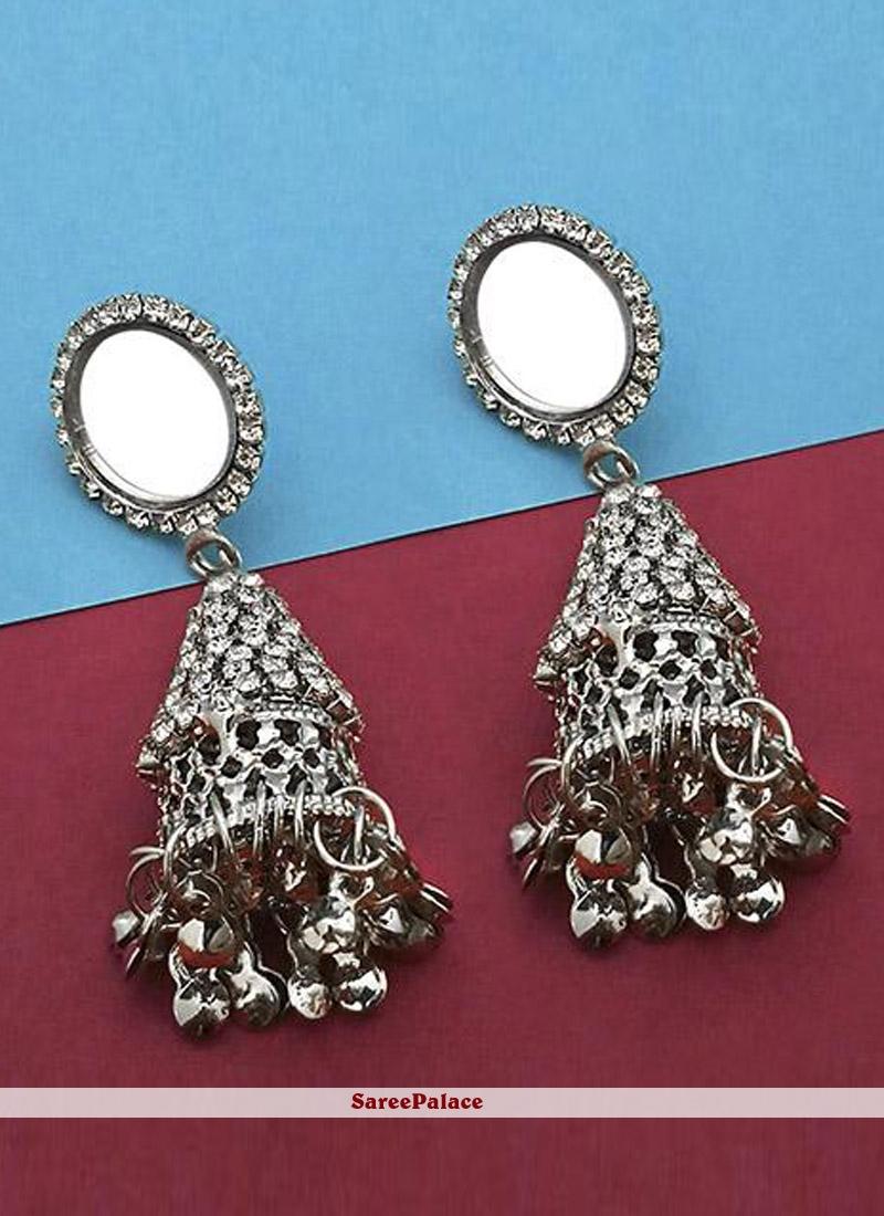 Silver Mirror Festival Ear Rings