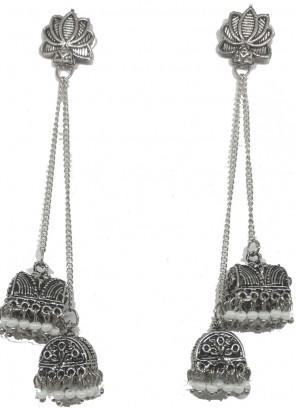 Silver Party Ear Rings