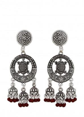 Silver Wedding Ear Rings