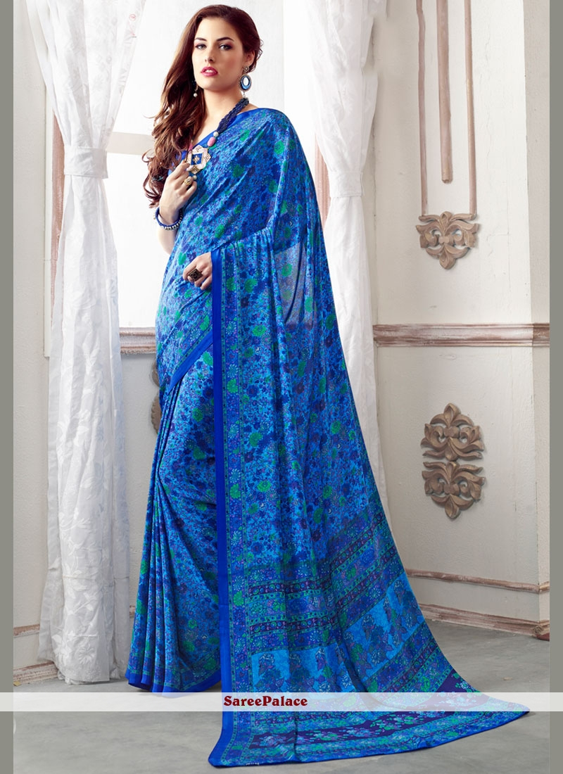 Simplistic Blue Casual Saree