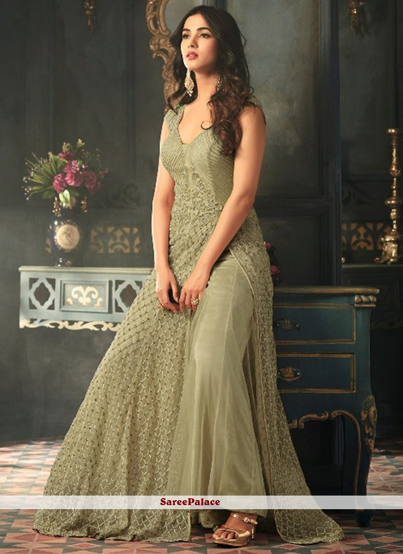 Sonal Chauhan Embroidered Work Floor Length Anarkali Suit