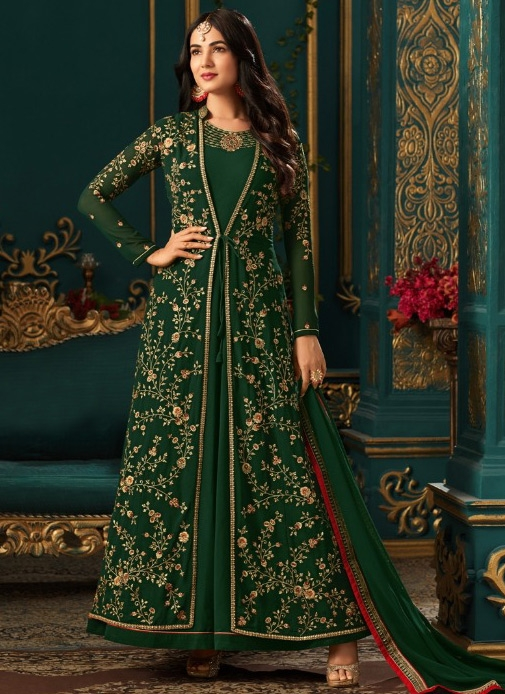Sonal Chauhan Faux Georgette Floor Length Anarkali Suit