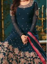 Sonal Chauhan Faux Georgette Resham Work Floor Length Anarkali Suit